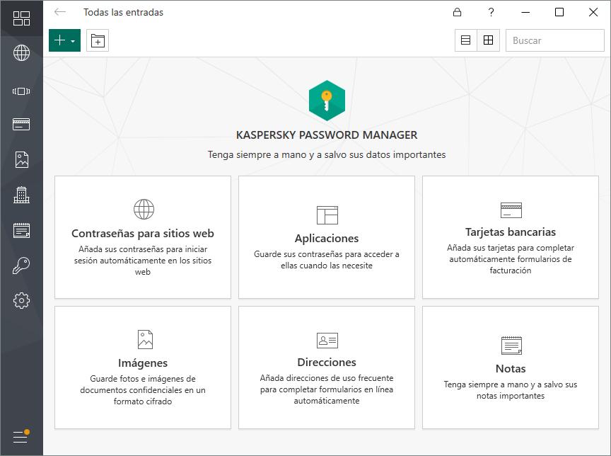 Screenshots Almacena más que contraseñas