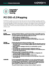 PCI DSS v3.2 Mapping: Sistemas integrados