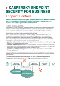 HERRAMIENTAS DE CONTROL DE KASPERSKY ENDPOINT SECURITY FOR BUSINESS - HOJA DE DATOS